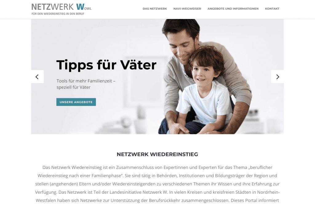 Netzwerk W Website